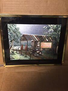 Dufex Foil Art Print Framed 8 x 10 Coca-Cola Country Store No 5026 coca cola