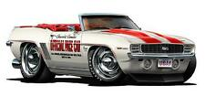 Rare 1969 Chevy Camaro SS 350 Pace Car Wall Graphic Decal Poster Cling Man Cave