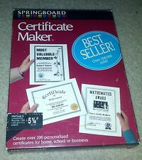 "Springboard Certificate Maker 5.25"" Floppy Disks for DOS 2.1"