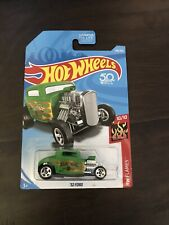 32 Ford Hot Wheels 50th Anniversary Green HW Flames, New