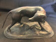 Old Vtg Collectible Art Deco? Bronze? Greyhound? Sleek Dog Animal Pet Statue