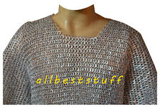 Aluminum Flat Riveted Chain Mail Shirt 16g Aluminum Chainmail Large ABS
