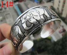 New Tibetan Tibet Silver(mixed metal with silver) Totem Bangle Cuff Bracelet