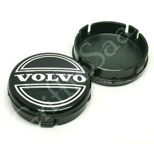 1x Volvo Alloy Wheel Centre Hub Cap 64mm Black C30 C70 S40 V50 S60 V70