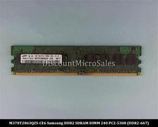 Samsung M378T2863QZS-CE6 DDR2 1GB PC2-5300 Non ECC 667Mhz RAM Memory