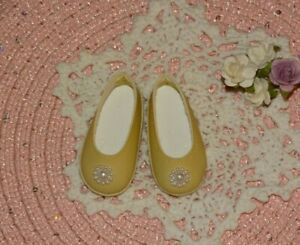 """Fit 15"""" Ruby Red Fashion Friends Doll ~Handmade Faux Pearl Flower Flat Shoes #47"""