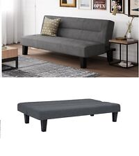 Futon Couch Sofa Microfiber Cover Sleeper Full Size Gray Bed Daybed Sleep