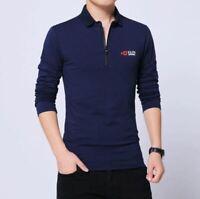 Camisa para hombre Casuales Camiseta de manga larga Hombres Ropa Nuevo Camisas