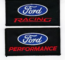 FORD RACING & PERFORMANCE SEW/IRON ON PATCH SET EMBROIDERED SHELBY MUSTANG PONY