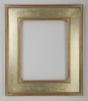 8 x 10 Arts & Crafts Picture Frame Hand Applied Silver Leaf * Beautiful Frame *