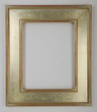 12 x 16  Arts & Crafts Picture Frame Hand Applied Silver Leaf   Beautiful Frame