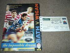 Bad V Wigan Rugby Cross Code Herausforderung Programm & Match Ticket Miniature 1996