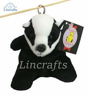 Badger Backpack Keyring, Purse Plush Soft Toy Dowman Sold by Lincrafts.15cm