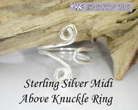 STERLING SILVER .925 Adjustable Midi RING Above Over Knuckle