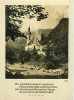 Alte Ansichtskarte Postkarte Kirche zu Ramsau s/w