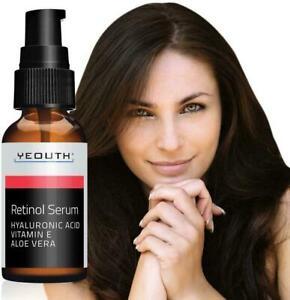 Yeouth Retinol 2.5%Serum 1fl.oz 30ml HYALURONIC ACID/VITAMIN E/ALOE VERA AntiAge