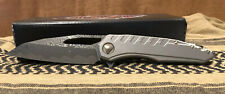 Microtech Sigil Damascus S/N 002 w/Flamed Titanium back spacer