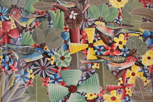 ORIGINAL PAINTING HAITIAN ARTIST LAUREUS PIERRE 12x16inc HAITIAN ART HAITI