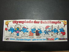 BPZ OLYMPIADE DER SCHLÜMPFE  (D) 1983