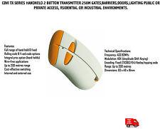 CDVi TX serie Handheld 2 Botón Transmisor 250M puertas, barreras, puertas, Iluminación