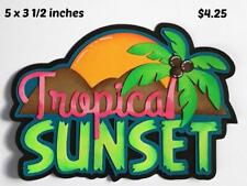 TROPICAL SUNSET TITLE summer paper piecing 3D die cut for scrapbook page Rhonda