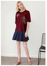 Embroidered Floral Maroon Cotton Top #A1189
