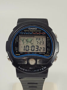 Vintage Men's Casio Digital Thermometer Watch - TS-100 - Module 815 - Manual