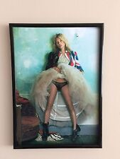 KATE MOSS A4 260GSM FRAMED  POSTER  PRINT