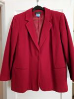 Red Blazer Womens Wool Cashmere Blend Jacket/ Made By Harve Benard
