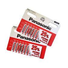 20 Panasonic AAA BATTERIES HEAVY DUTY R6 R03 Small Size ZINC CARBON 15V
