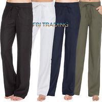 Ladies Linen Trousers Womens  bottoms  summer  UK Size 10 12 14 16 18 CB 118