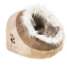 Trixie 36282 Minou Kuschelhöhle Katzenhöhle, 41 × 30 × 50 cm, beige/braun