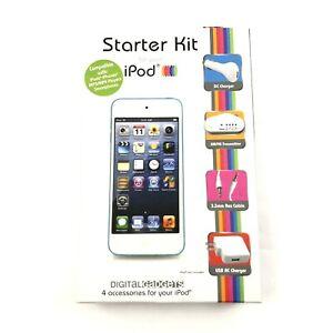 iPad iPod iPhone Charging Accessories Starter Kit 4 Listening Travel AM FM