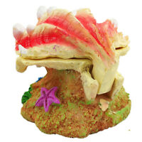 Air Driven Opening Clam Sea Shell Classic Aquarium Fish Tank Ornament Decoration