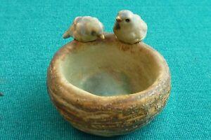 Vintage Bourne Denby Miniature Bird Bath Dish