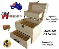 3 Tier Essential Oil Storage Box Wooden Case Wood Container Organizer Display