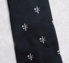 GOLF ONEHOLER HOLE IN ONE TIE THE ONE HOLER VINTAGE 1980s THRESHER GLENNY NAVY