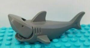New Lego SHARK Articulated Gray Standard Sea Animal Rescue Villain Ocean