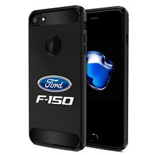 iPhone 7 Case, Ford F-150 Black TPU Shockproof Carbon Fiber Texture