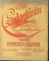 Emmerich Kálmán - Die Csardasfürstin Potpourri II - Alt , übergroß