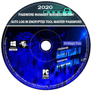 Encrypted Password Key Manager Business Edition Auto Log In For Windows PC CD
