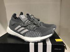 Adidas Men's PulseBOOST HD Running Shoes Grey/White Mens 9.5