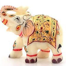Little India Rajasthani Handmade Marble Handicraft Elephant