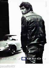PUBLICITE ADVERTISING 126  2005  Chevignon blouson cuir Nicolas Cazalé