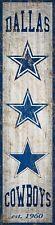 "Dallas Cowboys Heritage Banner Retro Logo Wood Sign 6"" x 24"" Wall Decor Est 1960"