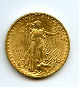 1910 Twenty Dollar $20 Saint Gaudens Double Eagle