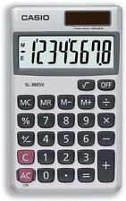Casio SL-300SV Solar-Powered Pocket Calculator with Metal Finish 8 Digits Displ