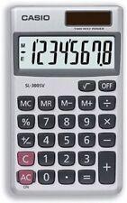 Casio SL-300SV Solar-Powered Pocket Calculator with Metal Finish 8 Digits Displ