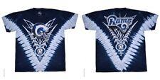 New  LOS ANGELES RAMS  Tie Dye V Dye T Shirt  LICENSED NFL TEAM APPAREL White