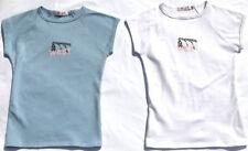 No Pattern Cotton Blend Short Sleeve Basic Women's T-Shirts